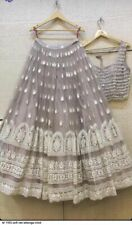 Net Lehenga Choli Indian Ethnic Party Wear Lengha Chunri Ghagra Skirt Top Dress