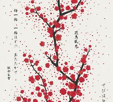 Vliestapete japanischer Kirschblüten Baum Schrift weiß rot 37469-2 Asian Fusion