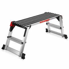 330lbs Aluminum Step Stool Folding Bench Work Platform Non-slip Drywall Ladder