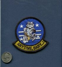 ANYTIME BABY US NAVY GRUMMAN F-14 TOMCAT VF FIGHTER Squadron Shoulder Patch