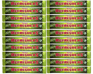 20x Swizzels Refreshers Sour Apple Flavour Chew Bars - Free Shipping in UK
