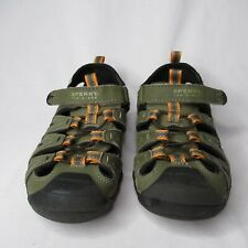Sperry Top-Sider Boys 2 M Green Leather Wet Tech Fish Sport Sandals Shoes