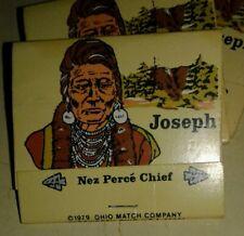 (3) CHIEF JOSEPH OF THE NEZ PERCE 1979 FULL MATCH BOOKS