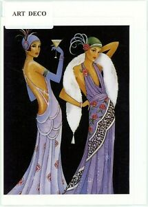 Unique/Nostalgic Art Deco 1920's style hand made greeting card.blank inside.3291