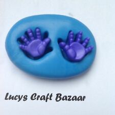 Silicone Mould Tiny Baby Hands Prints Cake Pop Topper Chocolate Fimo Sugarcraft