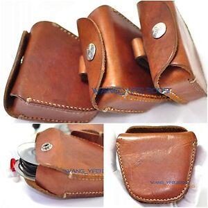 Men' Genuine Leather Case Box For Sennheiser In Ear Earphone Earbuds Headphone