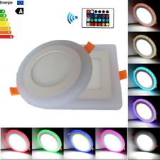 Dual Color RGB LED Ceiling Panel Light Recessed Downlight Spot Lamp Ultraslim