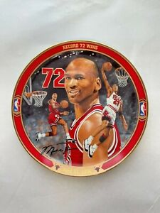 "Michael Jordan Plate ""72 Wins"" Upper Deck Bradford Exchange Limited Edition Rare"