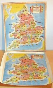VICTORY Wooden 'INDUSTRIAL LIFE IN ENGLAND & WALES' Jigsaw Puzzle OLD Complete