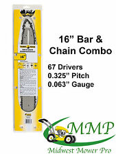 """16"""" Bar Chain Combo .325-063-67DL 028 029 MS290 MS360 replaces Stihl 163SLGD025"""