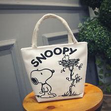 Little Lovely Dog Women's Canvas Clutch Bag Lunch Bag Box Tote Handbag