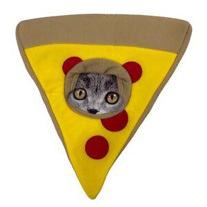 Dog / Cat Hat Costume Headwear Pepperoni Pizza Slice Size: XS/SM Lightweight NEW