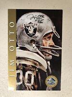 Raiders Jim Otto Signed 1998 HOF Gold Signature Series Card