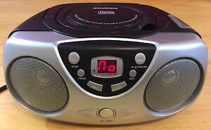 Sylvania CD/Radio AM/FM Player Model SRCD243PL-ASST6 Black & Silver Tested Works