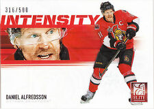DANIEL ALFREDSSON 2012-13 Panini Rookie Anthology Intensity Card #I-28 #/500