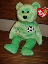TY Beanie Baby Kicks Soccer Bear 1/1/1999 Retired 12/23/1999