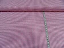 Tela de la prenda Vichy A Cuadros Algodón rosa/blanco aprox. 140 cm ancho 100%