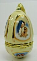 Mr Christmas Musical Egg Ornament Trinket Valerie Parr Hill Cream