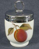 """Royal Worcester Evesham Gold Egg Coddler Single Size 2 1/2"""" with Lid Porcelain"""