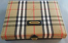 Burberrys Burberry Game Compendium Set Cribbage Checkers Dominoes Checkered Case
