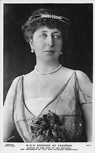 POSTCARD ROYALTY -  BELGIUM -  DUCHESS OF VENDOME