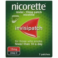 Nicorette 16hr Invisipatch Patches Step 2 15mg 7 Pack Nicotine QUIT STOP SMOKING