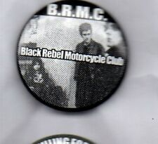 BLACK REBEL MOTORCYCLE CLUB BUTTON BADGE American Rock Band  25mm PIN B.R.M.C