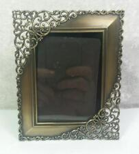 """Frame 2.5"""" x 3.5"""" Photo Size Antique Brass Finish Sculpted Open Scrolling Design"""