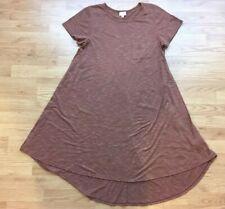 Lularoe Women's Short Sleeve Dress Size L Brown Stretch Relaxed