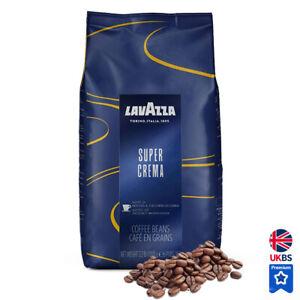 Lavazza Super Crema Espresso Coffee Beans 1kg 2.2lb 5% off on 4+ {New design}