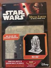 Star Wars R2-D2 Metal Earth 3-D Laser Cut Steel Model Kit #MMS250, NEW SEALED