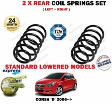 FOR OPEL VAUXHALL CORSA D LOWERED SUSPENSION 2006 > 2X REAR COIL SPRINGS SET