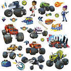 28 BLAZE AND THE MONSTER MACHINES WALL DECALS Trucks Stickers Boys Bedroom Decor