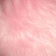 """Pink Luxury Long Pile Faux Shag Fur Fabric - Sold By The Yard - 60"""""""