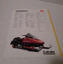 New listing Ski-doo 1996 Formula SL spec sheet