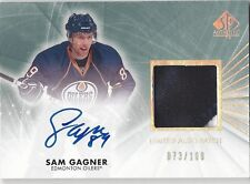 Sam Gagner 2012 Edmonton Oilers SP Authentic Autograph Patch /100