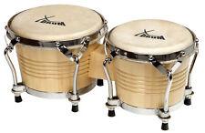 Profi Bongo Trommeln Percussion Instrument Doppelbongo Holz Latin Congas Drums