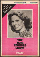 THE TONI TENNILLE SHOW__Original 1980 Trade print AD / TV series promo_poster