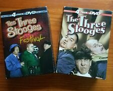Pre-owned (2) The Three Stooges 4 Pack DVD Box Sets Festival / The Three Stooges
