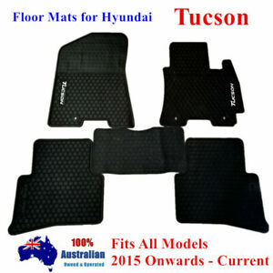 All Weather Heavy Rubber Floor Mats Tailor Made For Hyundai Tucson 2015 - 2020