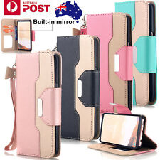 Luxury Leather Flip Wallet Stand Case Magnetic Cover For Samsung S8 S7 S6 edge