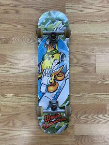 Vintage World Industries Flame Boy Missile Surf Complete Skateboard Wet Willy