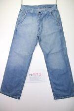 Levi's 572 Work (Cod. H1893)Tg L jeans usato Vintage Zampa Streetwear