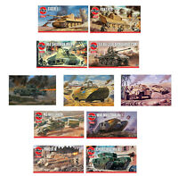 Airfix Classic Model Kits World War Tanks & Military Vehicles WWI WWII 1:76 Sets