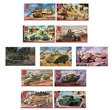 Airfix Classic Model Kits World War Tanks & Military Vehicles WWI WWII 1:76 Sets