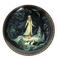 Bradex Kholuy *Snowmaiden in the Forest* Collector Plate No.60-K24.1.1 1989