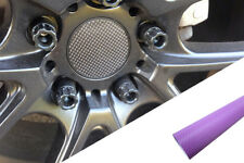 4x llantas aluminio EJES Tapa Diseño lámina CARBONO LILA para muchos vehículos