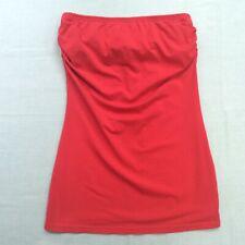 Derek Heart Womens Red Strapless Top Large