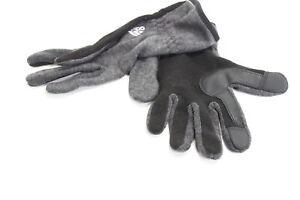 adidas Men's Winter Gloves Gray Size Medium M Touch Screen Accessory $30- 475
