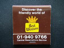 BEST WESTERN DISCOVER FRIENDLY WORLD OF 140 HOTELS BRITAIN 01 9409766 MATCHBOOK